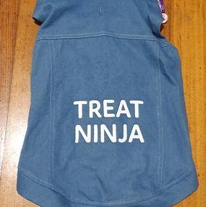 Dog Jacket Treat Ninja Slogan - Warm - New+ Tag